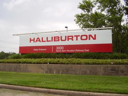 إعلان لشركة هاليبورتون