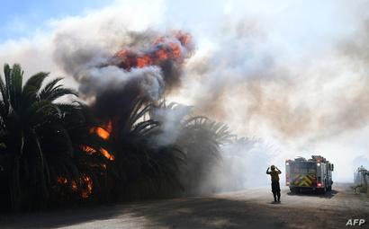حريق سيمي فالي في كاليفورنيا