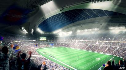 """الملعب الأولمبي لدورة """"طوكيو 2020""""، والذي تم التخلي عنه باعتباره باهظ الكلفة"""