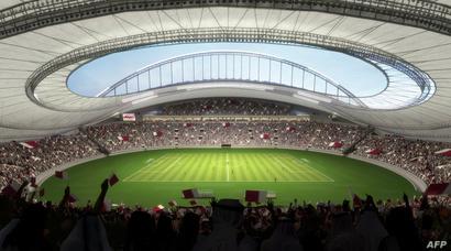 ملعب كرة القدم الدولي خليفة في الدوحة