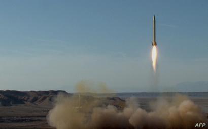 تجربة على صاروخ باليستي إيراني- أرشيف