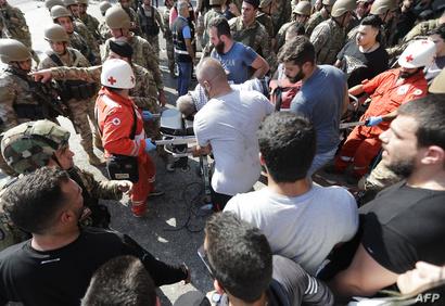 اعتداءات على متظاهرين من قبل ميليشيلت تابعة لحزب الله في لبنان