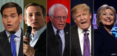 المرشحون الديموقراطيون والجمهوريون الأبرز