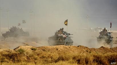 قوات عراقية في ناحية الشورة جنوب الموصل