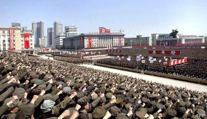 استعراض عسكري لجيش كوريا الشمالية في بيونغ يانغ