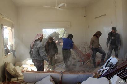 حجم الدمار الذي حل بمنزل الطفل عبد الباسط