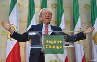 السيناتور السابق جون ليبرمان يشارك في التظاهرات ضد النظام الإيراني