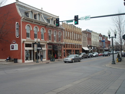 صورة من وسط مدينة فرانكلين في مقاطعة ويليامسون