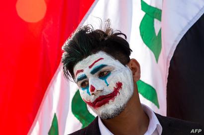 الجوكر.. حاضرا في تظاهرات العراق