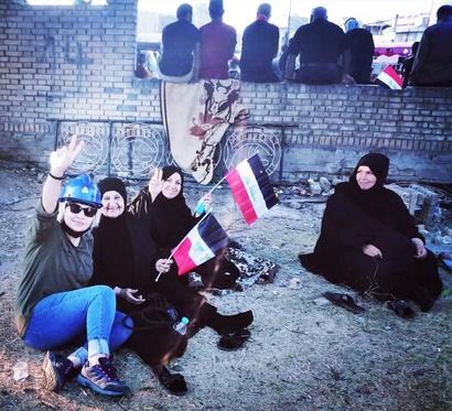 نساء عراقيات شاركن بغزارة في الاحتجاجات المناهضة للحكومة