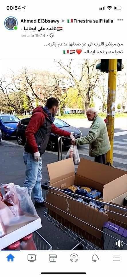 صورة تظهر أنشطة التكافل الاجتماعي للمصريين في إيطاليا