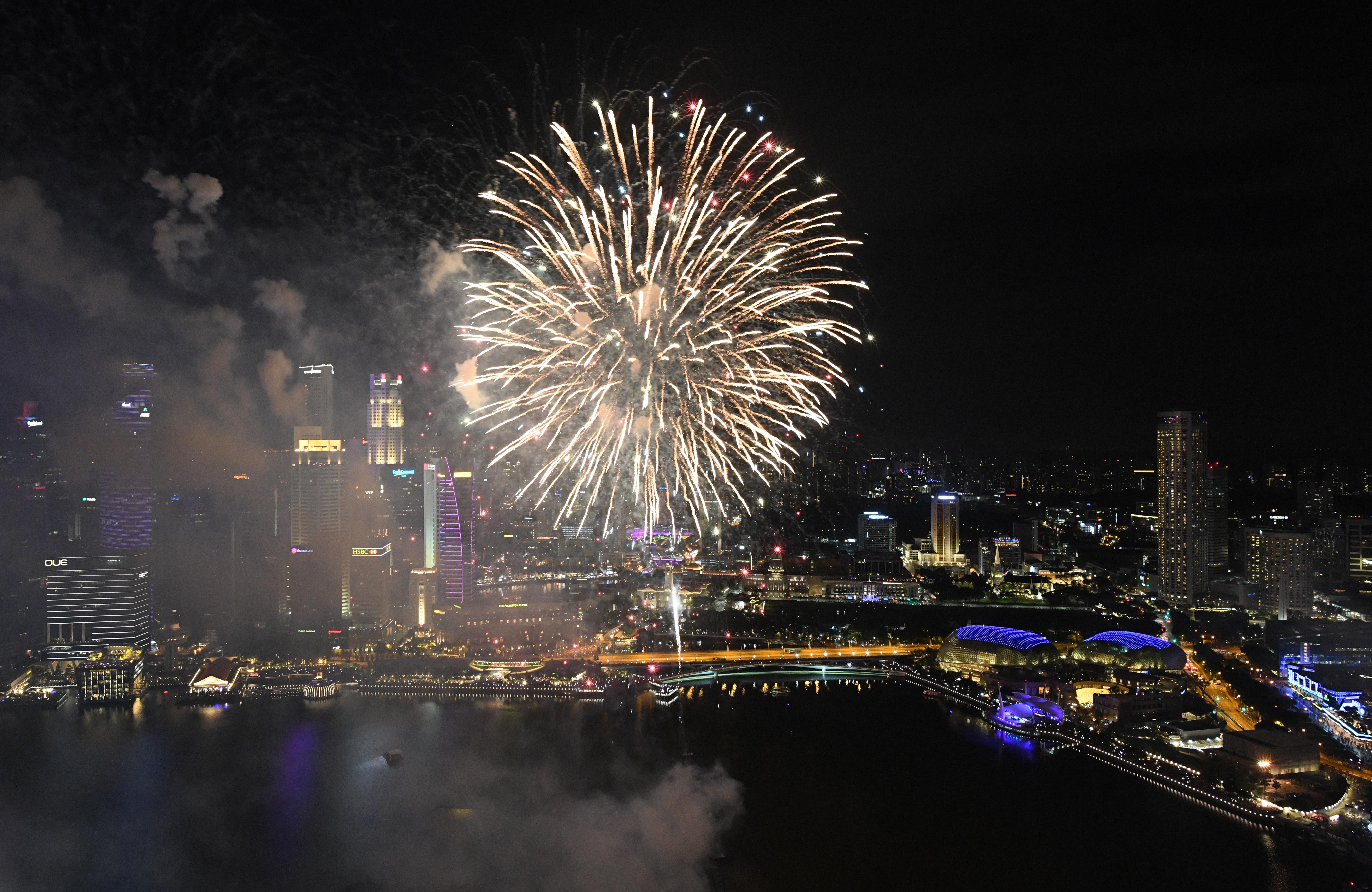الألعاب النارية في سنغافورة