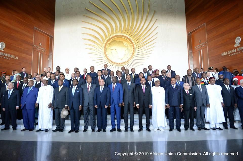 رؤساء الوفود المشاركة في القمة الأفريقية