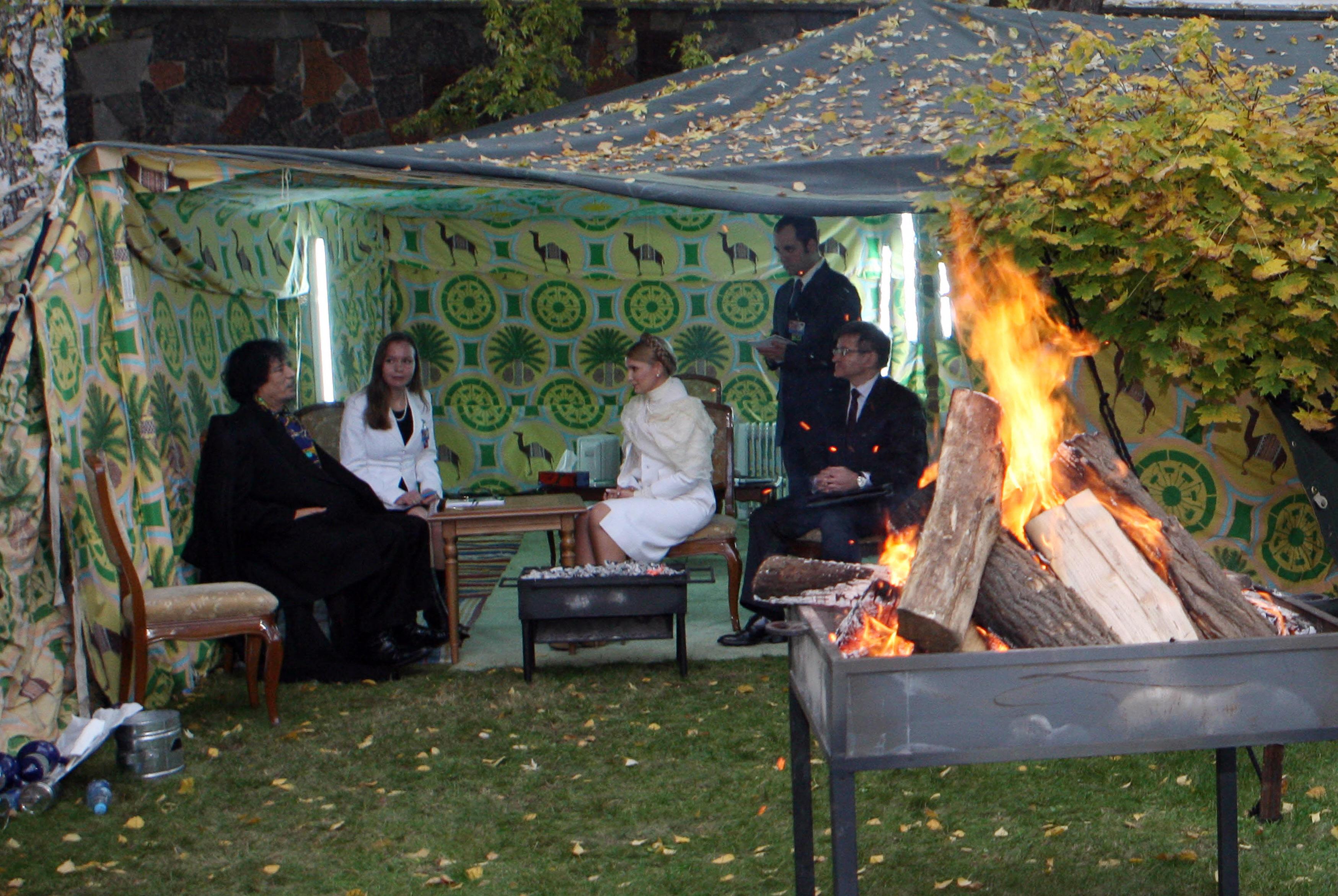 خيمة معمر القذافي المتنقلة (أرشيف)