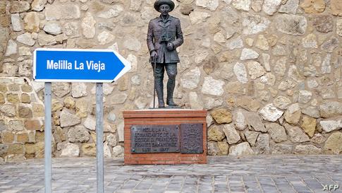 تمثال للدكتاتور الإسباني الأسبق، فرانشسكو فرانكو، في مدينة مليلية