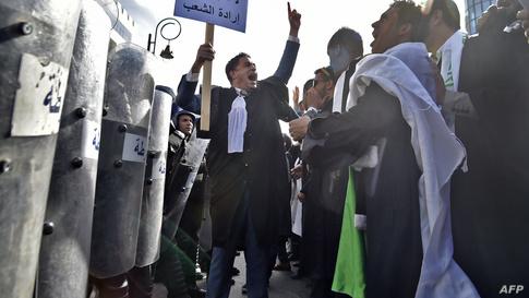 من احتجاجات محامين في الجزائر