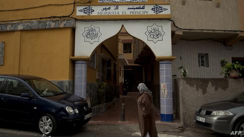 أحد مساجد مدينة سبتة التي يأهلها عدد كبير من المسلمين