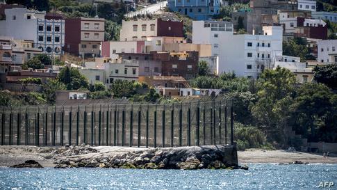 جانب من الواجهة البحرية لمدينة سبتة