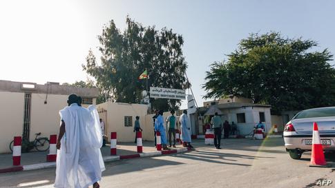 مدخل مستشفى في العاصمة الموريتانية