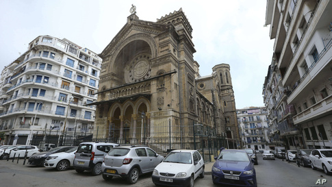 The Al-Rahma mosque of Algiers is closed for prayers after a presidential order, to prevent the spread of coronavirus, in…