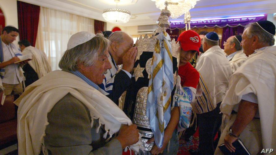 يهود مغاربة يحتفلون في معبد بالرباط بعيد روش هاشانا - أرشيف