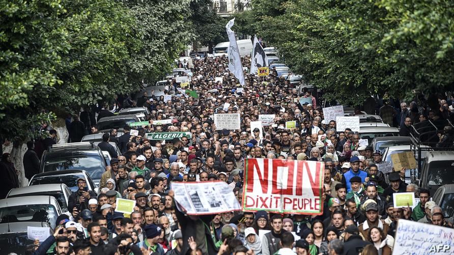 جانب من مظاهرات الجمعة بالجزائر العاصمة - أرشيف