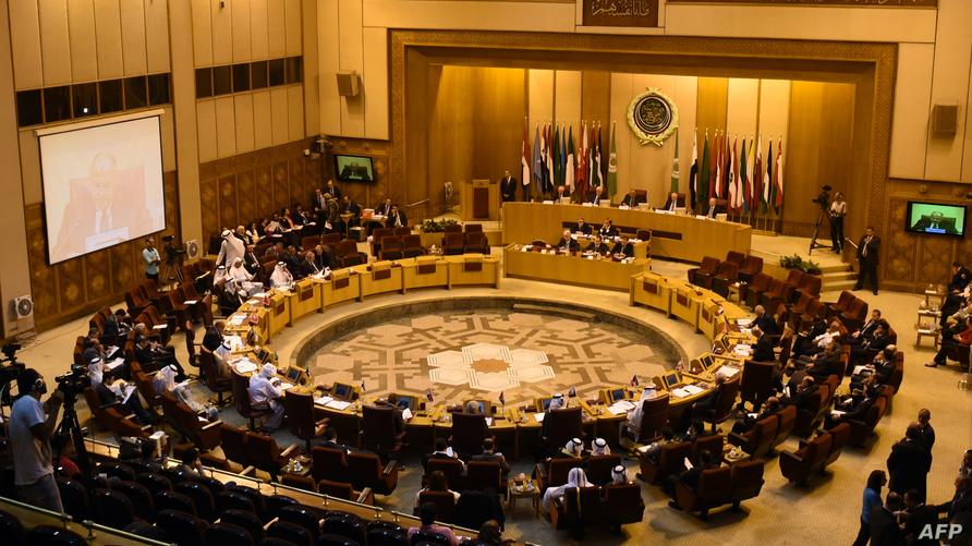 اجتماع سابق في مقر الجامعة العربية