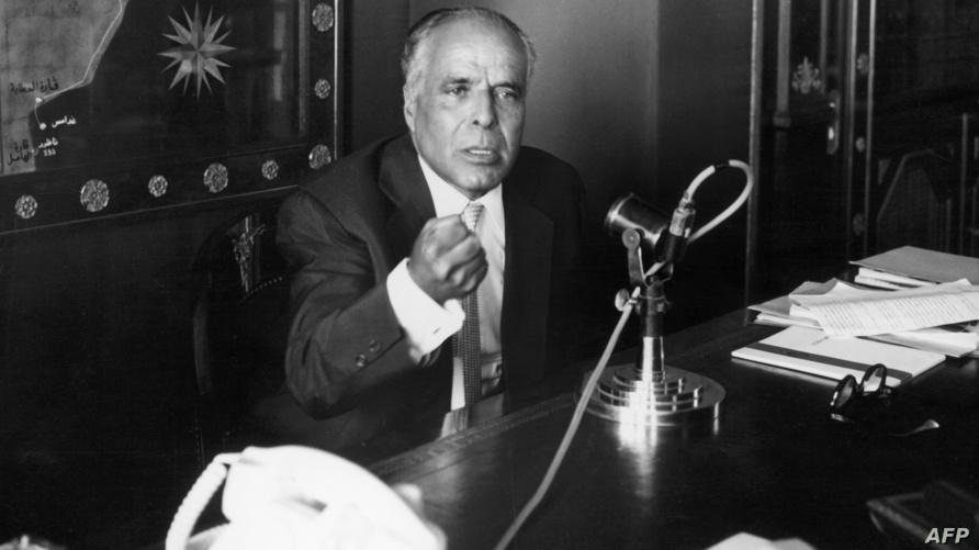 الحبيب بورقيبة في خطاب رسمي سنة 1957