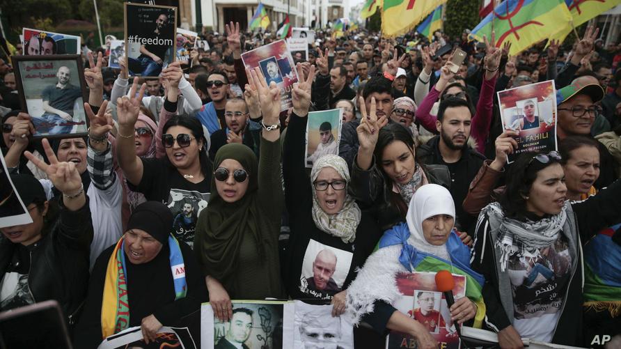 """من المسيرة المطالبة بالإفراج عن معتقلي """"حراك الريف"""""""