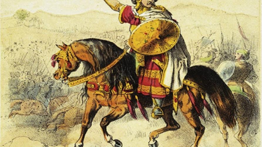 رسم متخيل لميسرة المطغري الذي قاد ثورة الأمازيغ ضد الأمويين
