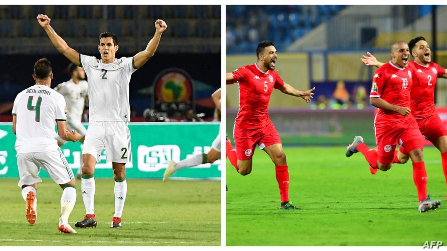 المنتخبان التونسي والجزائري