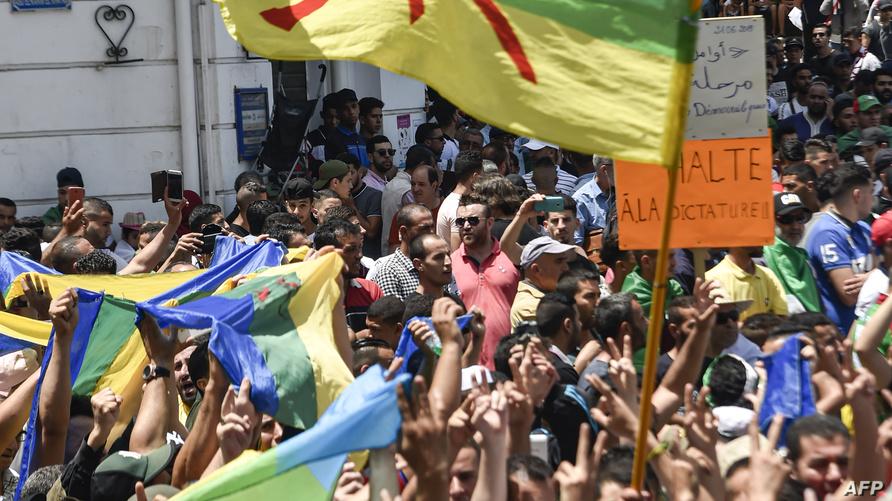 ظل نشطاء يرفعون العلم الأمازيغي في مسيرات الحراك