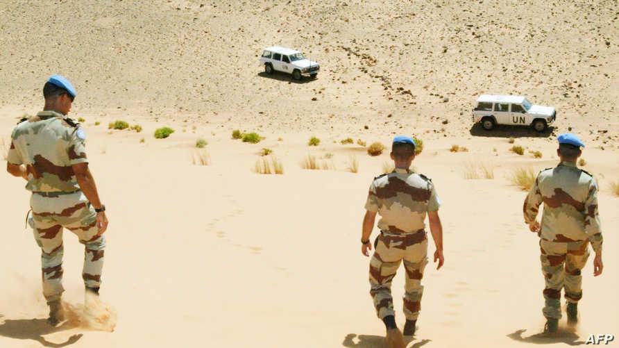 عناصر ببعثة المينورسو في الصحراء الغربية (أرشيف)