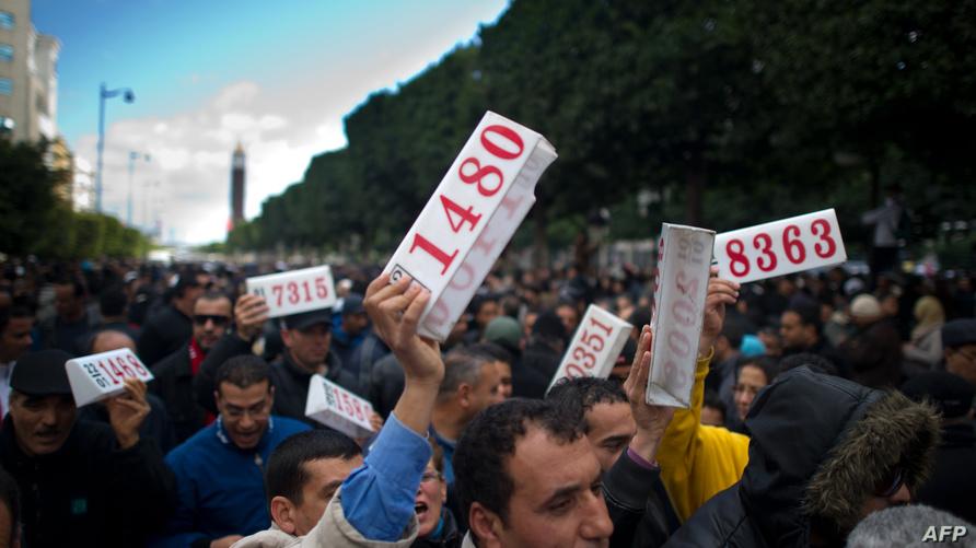 احتجاجات سابقة لسائقي سيارات الأجرة في تونس - أرشيف