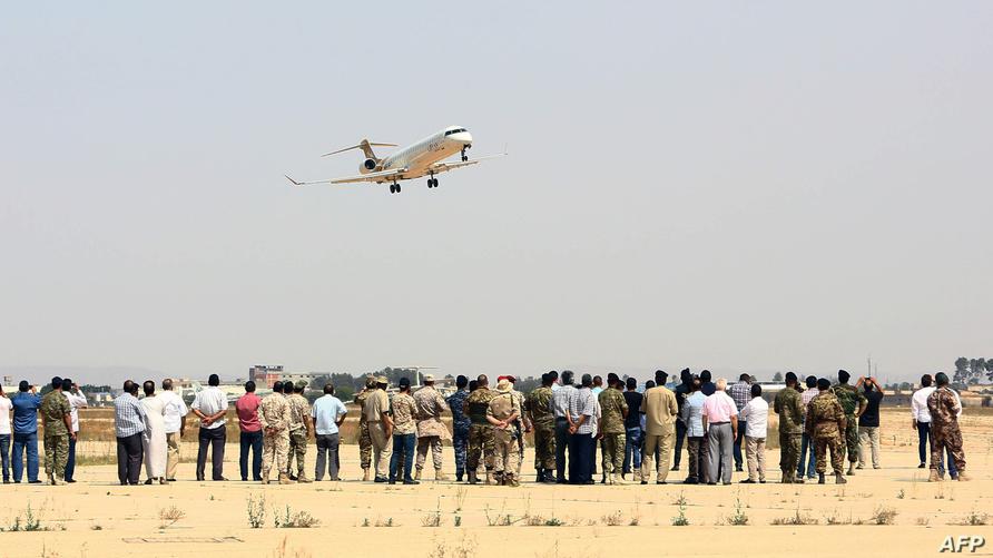 مطار معيتيقة بالعاصمة الليبية طرابلس