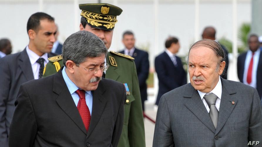الرئيس عبد العزيز بوتفليقة رفقة الوزير الأول الجزائري أحمد أويحيى