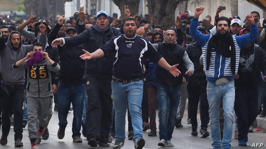 خلال احتجاجات سابقة في تونس
