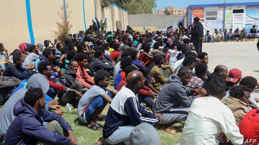 مهاجرون أفارقة فروا من مناطق الاشتباكات في ليبيا