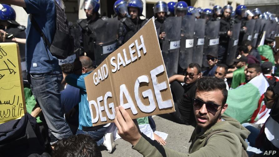 من احتجاجات الطلبة الجزائريين اليوم الثلاثاء