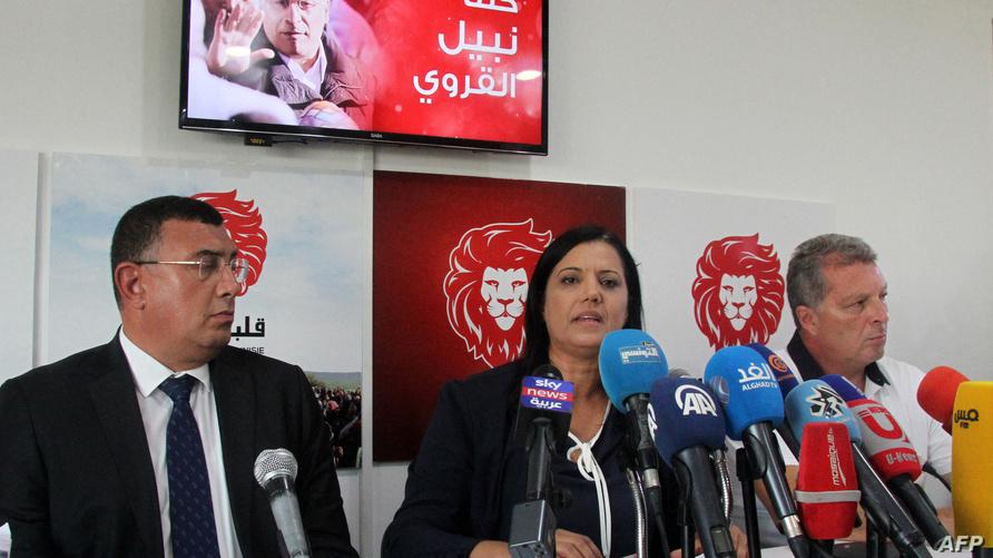 من مؤتمر صحفي لحزب قلب تونس