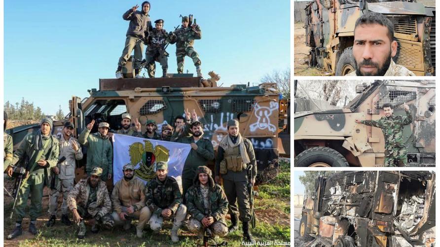 """صورة لمدرعات تركية من طراز """"BMC Kipri"""" في ليبيا"""