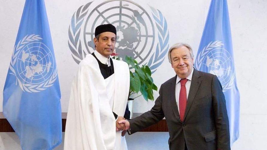 السني رفقة الأمين العام للأمم المتحدة أنطونيو غوتيريش