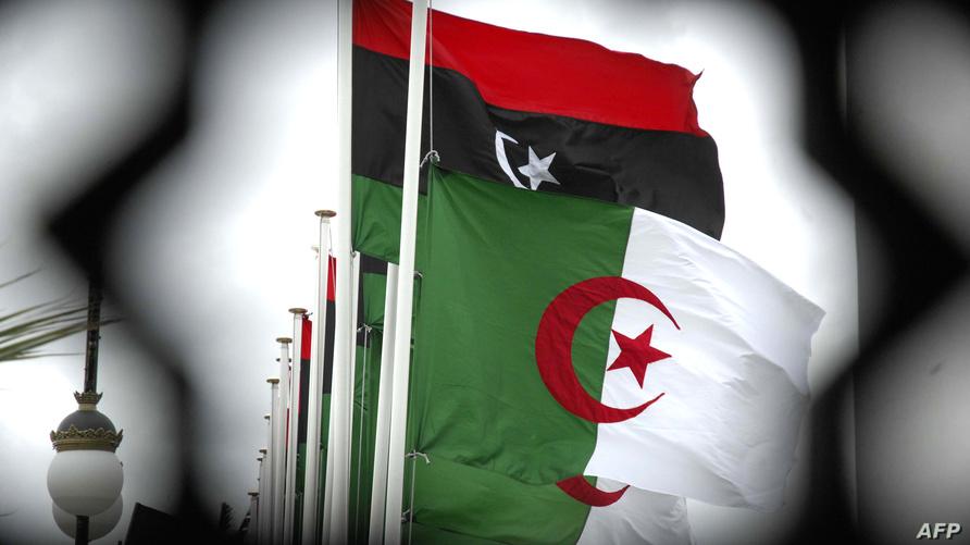 صورة تجمع العلمين الليبي والجزائري