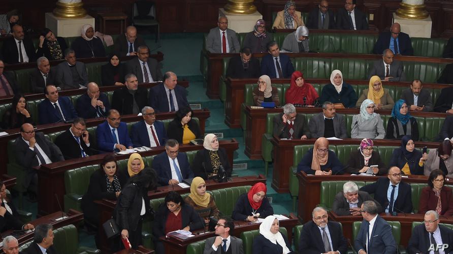 جانب من جلسة التصويت لمنح الثقة لحكومة الجملي