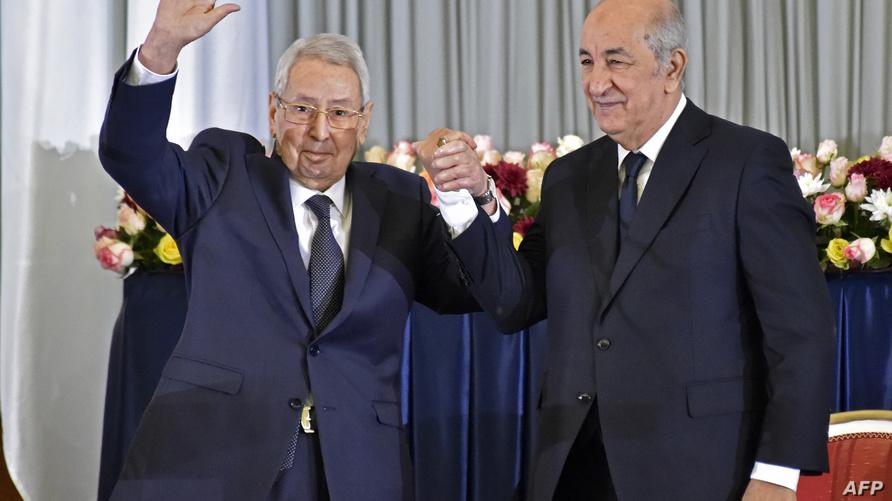 عبد القادر بن صالح رفقة الرئيس المنتخب عبد المجيد تبون