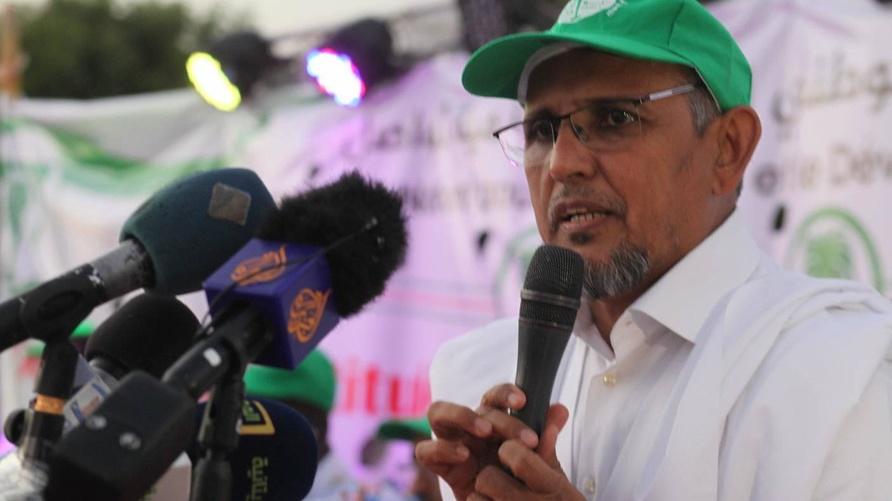 """رئيس حزب التجمع الوطني للإصلاح والتنمية """"تواصل""""، محمد محمود ولد سيدي، (أرشيف)"""