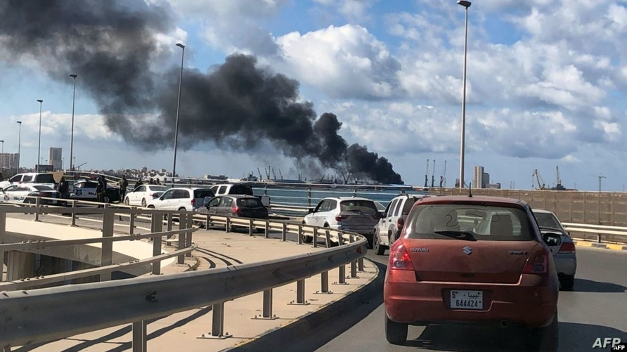 استهداف ميناء طرابلس بصواريخ أطلقتها قوات حفتر