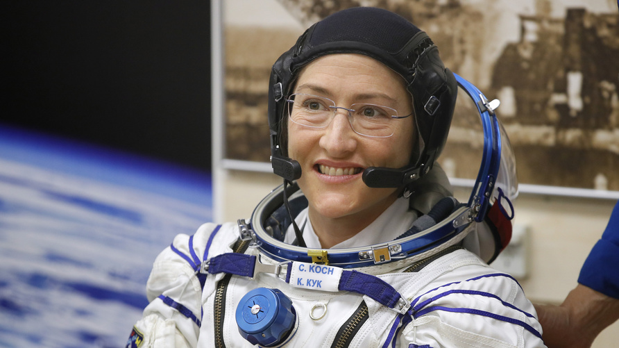 U.S. astronaut Christina Hammock Koch, member of the main crew of the expedition to the International Space Station (ISS),…