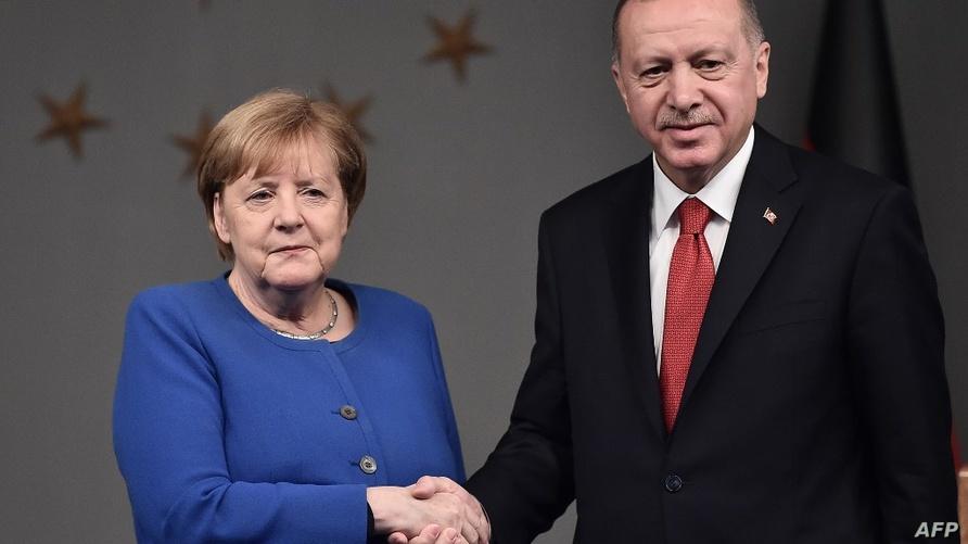 الرئيس التركي رجب طيب إردوغان والمستشارة الألمانية أنغيلا ميركل