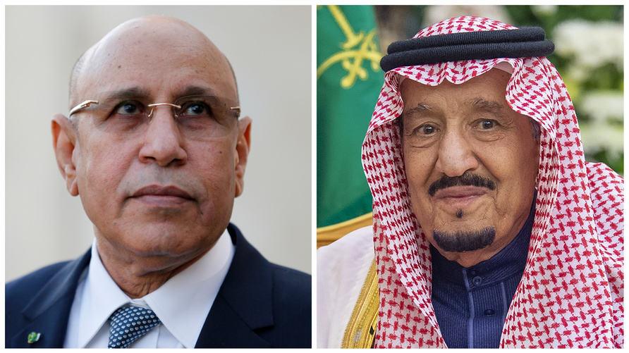 الرئيس الموريتاني والعاهل السعودي (صورة مركبة)